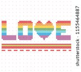 cross stitch love is in the... | Shutterstock .eps vector #1155464887