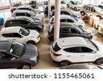 Top View New Cars At Dealer...