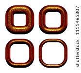 chiseled copper metal set of... | Shutterstock . vector #1155465307