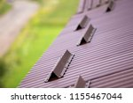 close up detail of metal brown... | Shutterstock . vector #1155467044
