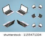 isometric vector laptop... | Shutterstock .eps vector #1155471334