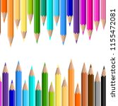colorful pencil background...   Shutterstock .eps vector #1155472081