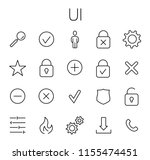 ui related vector icon set....
