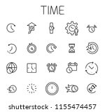time related vector icon set.... | Shutterstock .eps vector #1155474457