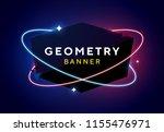 vector geometric dark glossy... | Shutterstock .eps vector #1155476971