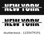 new york fashion typography... | Shutterstock .eps vector #1155479191