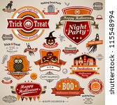 halloween vintage set   labels  ... | Shutterstock .eps vector #115548994