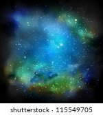 space with many stars. eps 10 | Shutterstock .eps vector #115549705