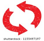 distressed curved arrows ... | Shutterstock .eps vector #1155497197