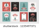 a set of posters or postcards... | Shutterstock .eps vector #1155497371