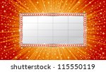 marquee banner on shiny... | Shutterstock .eps vector #115550119
