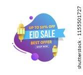 eid mubarak sale design tag... | Shutterstock .eps vector #1155501727