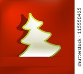 christmas tree applique vector... | Shutterstock .eps vector #115550425