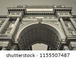 arcone triumphal arch with... | Shutterstock . vector #1155507487
