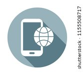 mobile telophone with globeicon ...