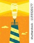 energy conservation lighthouse. ...   Shutterstock .eps vector #1155520177