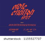 oldie english font italic | Shutterstock .eps vector #1155527737