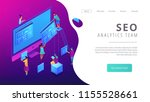 isometric seo specialists... | Shutterstock .eps vector #1155528661