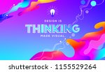 thinking quote in fluid... | Shutterstock .eps vector #1155529264