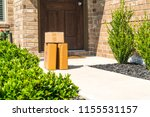 left package delivery on... | Shutterstock . vector #1155531157