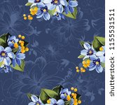 seamless floral pattern with... | Shutterstock .eps vector #1155531511