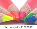 colour pencils on white... | Shutterstock . vector #11555317
