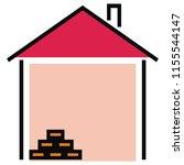 house  masonry  vector icon   Shutterstock .eps vector #1155544147