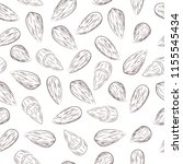 almond seamless pattern | Shutterstock .eps vector #1155545434