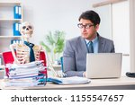 businessman working with... | Shutterstock . vector #1155547657