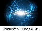abstract technology background... | Shutterstock .eps vector #1155552034
