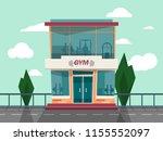 vector gym store facade front... | Shutterstock .eps vector #1155552097