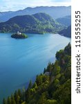 Top View Of Bled Lake In...