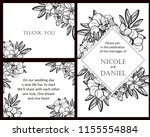 invitation greeting card with... | Shutterstock .eps vector #1155554884