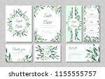 eucalyptus design. wedding...   Shutterstock .eps vector #1155555757