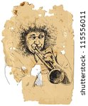 Trumpeter. A Vector Image Is...