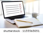 businessman survey and results... | Shutterstock . vector #1155565051