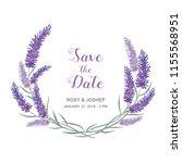 lavender flowers watercolor... | Shutterstock .eps vector #1155568951