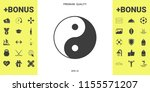 yin yang symbol of harmony and... | Shutterstock .eps vector #1155571207