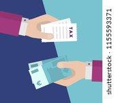 flat design of exchange tax... | Shutterstock .eps vector #1155593371