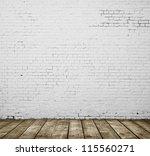 High resolution gray brick concrete room - stock photo