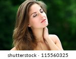 young and beautiful woman...   Shutterstock . vector #115560325