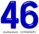 numeral 46  forty six  isolated ... | Shutterstock . vector #1155603691