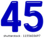 numeral 45  forty five ... | Shutterstock . vector #1155603697