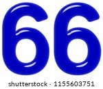 numeral 66  sixty six  isolated ... | Shutterstock . vector #1155603751