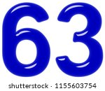 numeral 63  sixty three ... | Shutterstock . vector #1155603754