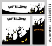 happy halloween vector ... | Shutterstock .eps vector #1155605551