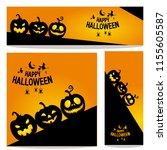 happy halloween vector ... | Shutterstock .eps vector #1155605587