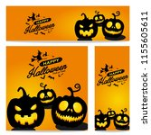happy halloween vector ... | Shutterstock .eps vector #1155605611