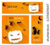 happy halloween vector ... | Shutterstock .eps vector #1155605647