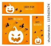 happy halloween vector ... | Shutterstock .eps vector #1155605674